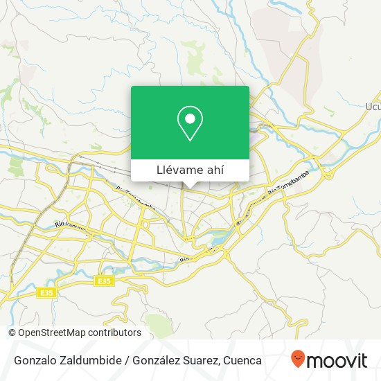 Mapa de Gonzalo Zaldumbide / González Suarez