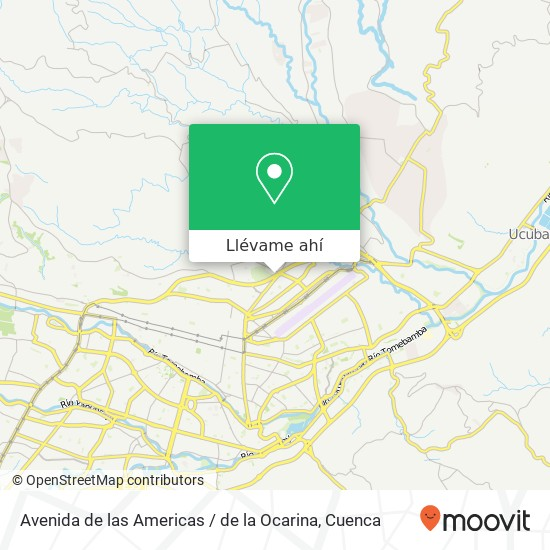 Mapa de Avenida de las Americas / de la Ocarina