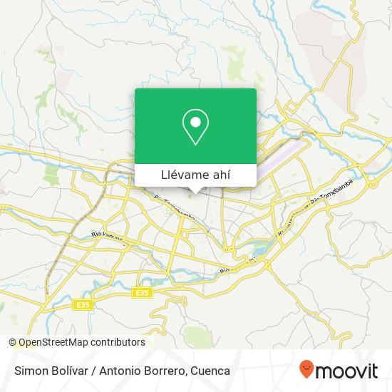 Mapa de Simon Bolívar / Antonio Borrero