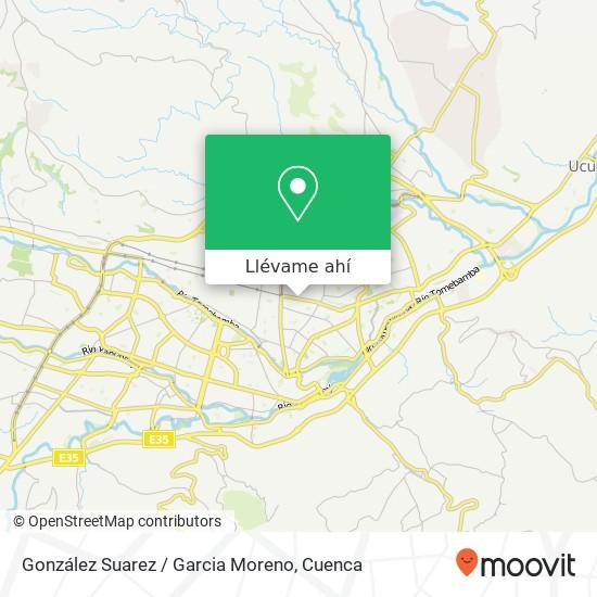 Mapa de González Suarez / Garcia Moreno