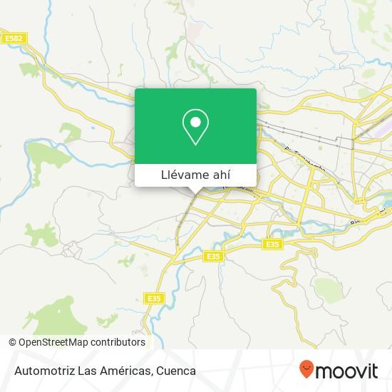 Mapa de Automotriz Las Américas
