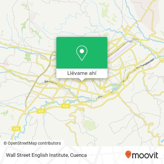 Mapa de Wall Street English Institute
