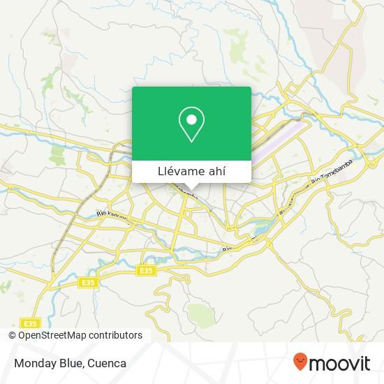 Mapa de Monday Blue