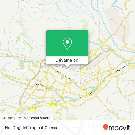 Mapa de Hot Dog del Tropical