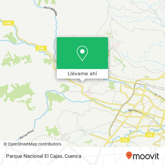 Mapa de Parque Nacional El Cajas
