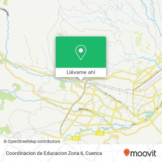 Mapa de Coordinacion de Educacion Zona 6