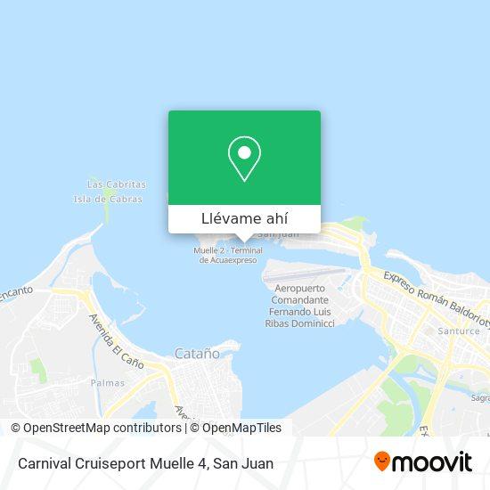 Mapa de Carnival Cruiseport Muelle 4