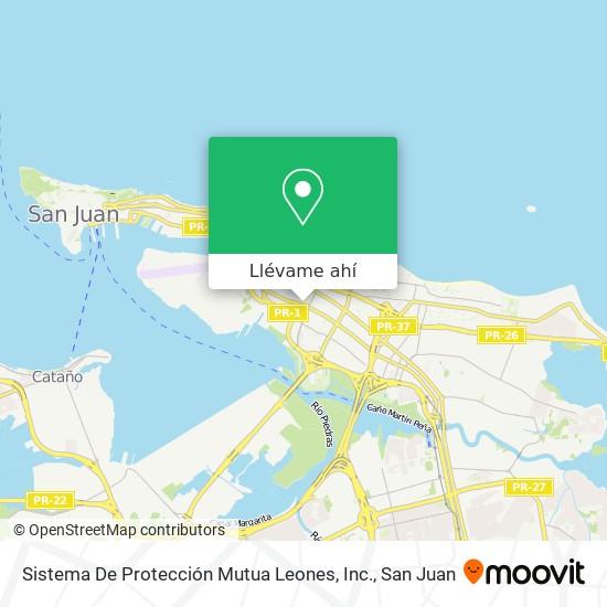 Mapa de Sistema De Protección Mutua Leones, Inc.