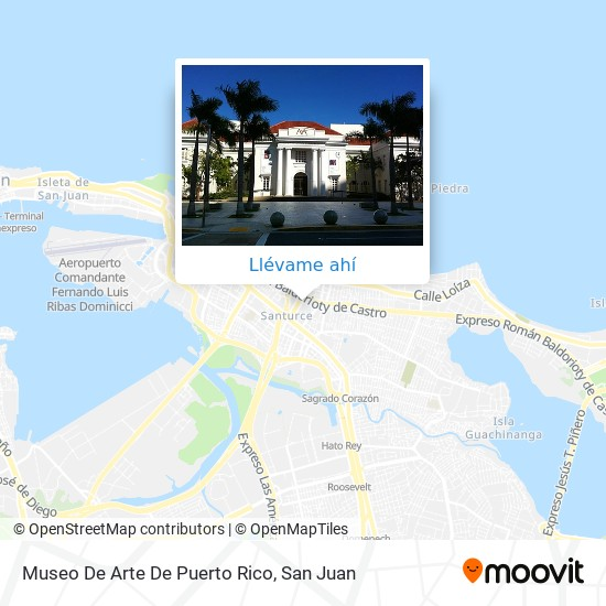 Mapa de Museo De Arte De Puerto Rico