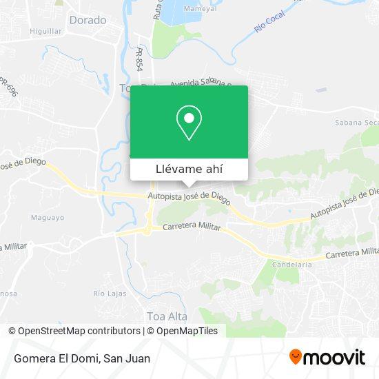 Mapa de Gomera El Domi