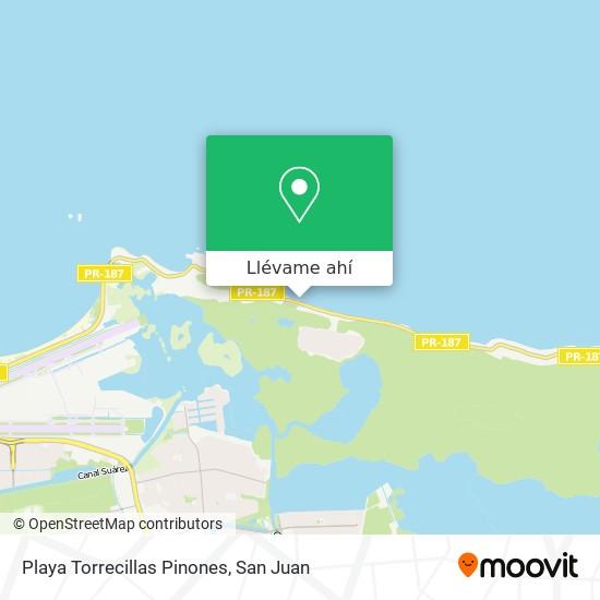 Mapa de Playa Torrecillas Pinones