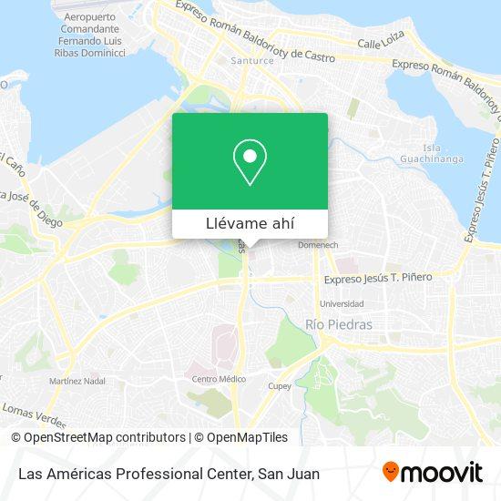 Mapa de Las Américas Professional Center