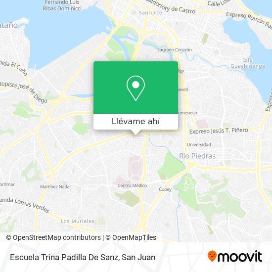 Mapa de Escuela Superior Trina Padilla De Sanz