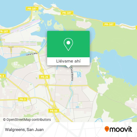 Mapa de Walgreens