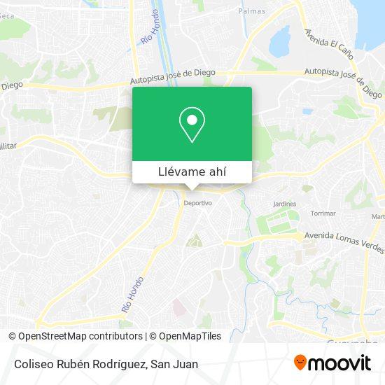 Mapa de Coliseo Rubén Rodríguez