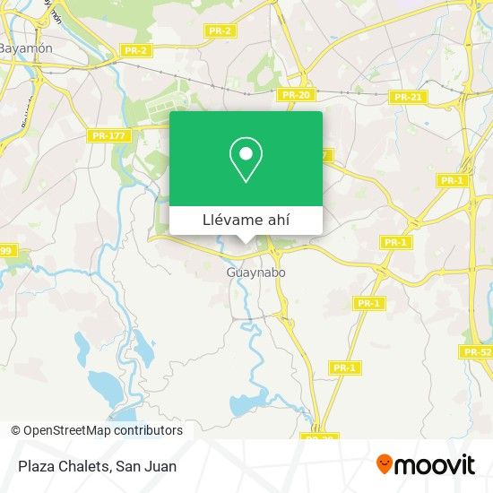 Mapa de Plaza Chalets