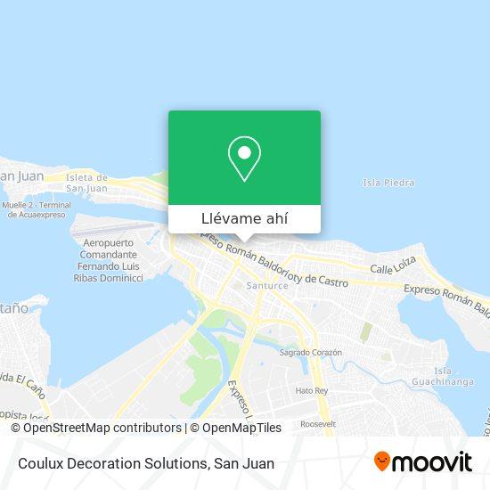 Mapa de Coulux Decoration Solutions