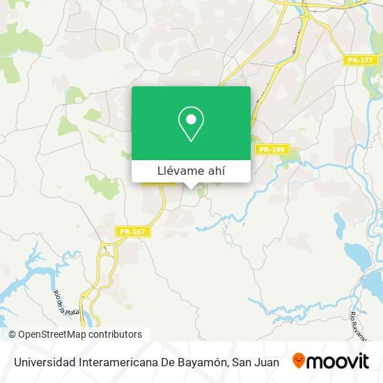 Mapa de Universidad Interamericana De Bayamón