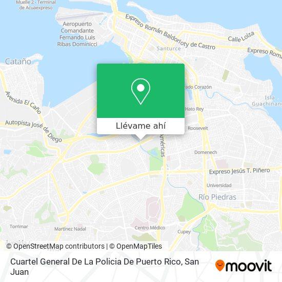 Mapa de Cuartel General De La Policia De Puerto Rico