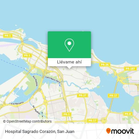 Mapa de Hospital Sagrado Corazón