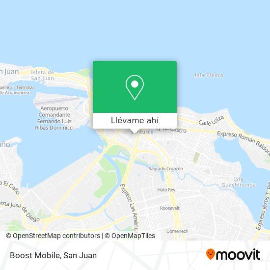 Mapa de Boost Mobile