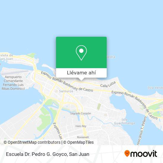 Mapa de Escuela Dr. Pedro G Goyco