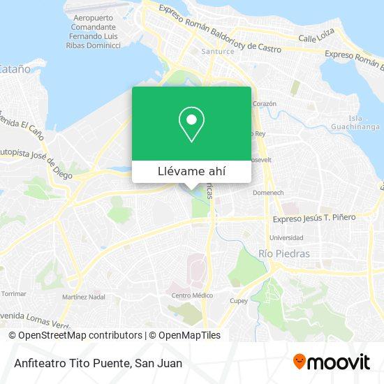 Mapa de Anfiteatro Tito Puente