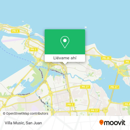 Mapa de Villa Music