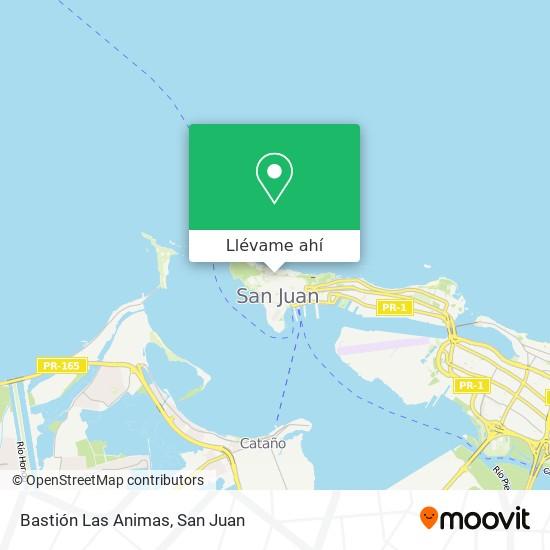 Mapa de Bastión Las Animas