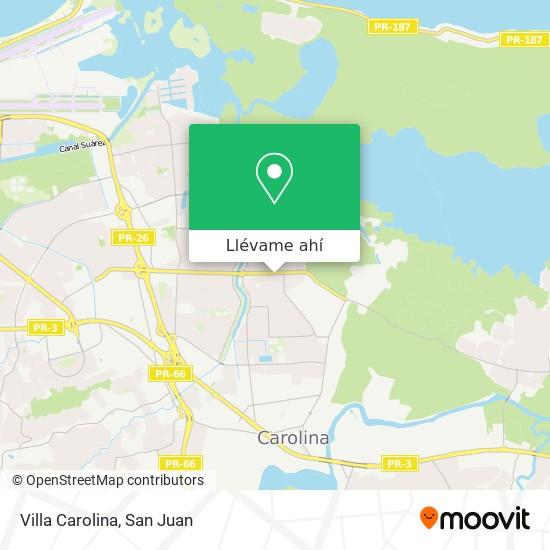 Mapa de Villa Carolina