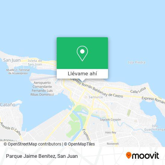 Mapa de Parque Jaime Benítez