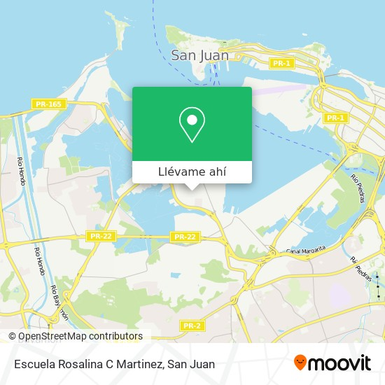 Mapa de Escuela Rosalina C Martinez