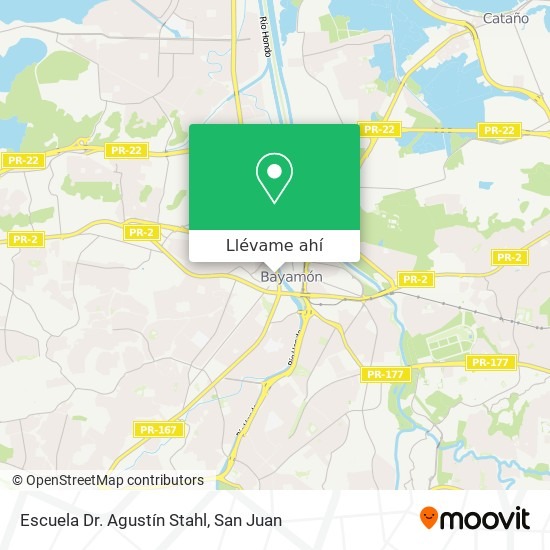 Mapa de Escuela Superior Agustín Stahl