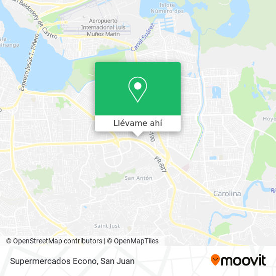 Mapa de Supermercados Econo