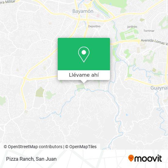 Mapa de Pizza Ranch