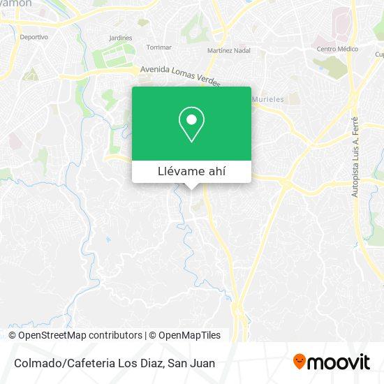 Mapa de Colmado/Cafeteria Los Diaz