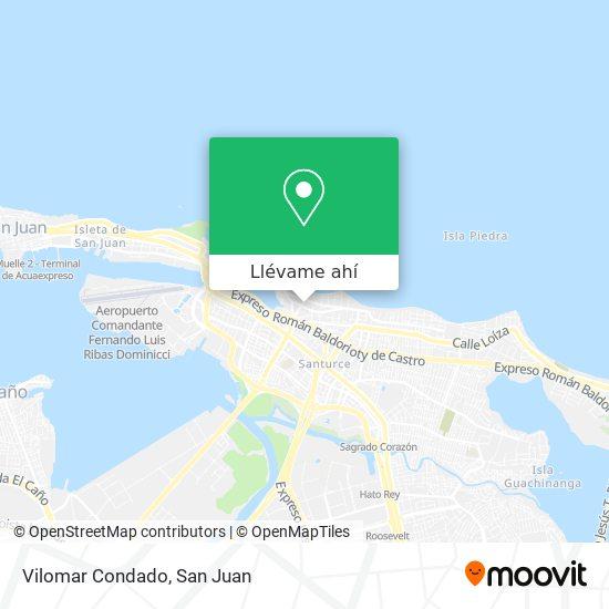 Mapa de Vilomar Condado