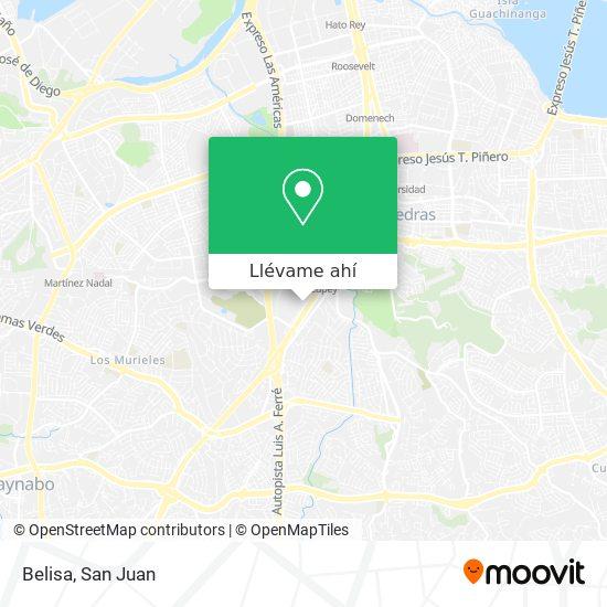 Mapa de Belisa