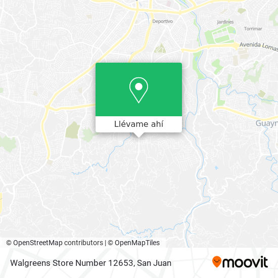 Mapa de Walgreens Store Number 12653