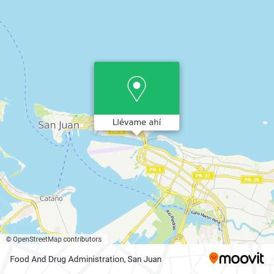 Mapa de Food And Drug Administration