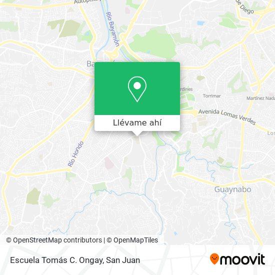 Mapa de Escuela Superior Vocacional Tomás Ongay