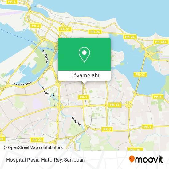 Mapa de Hospital Pavia-Hato Rey