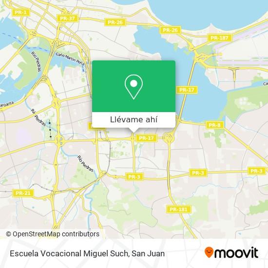 Mapa de Escuela Vocacional Miguel Such