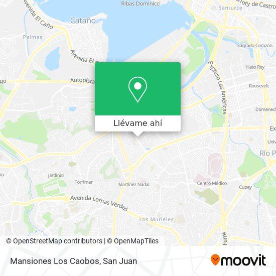 Mapa de Mansiones Los Caobos