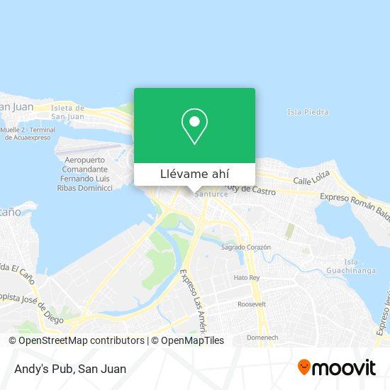 Mapa de Andy's Pub