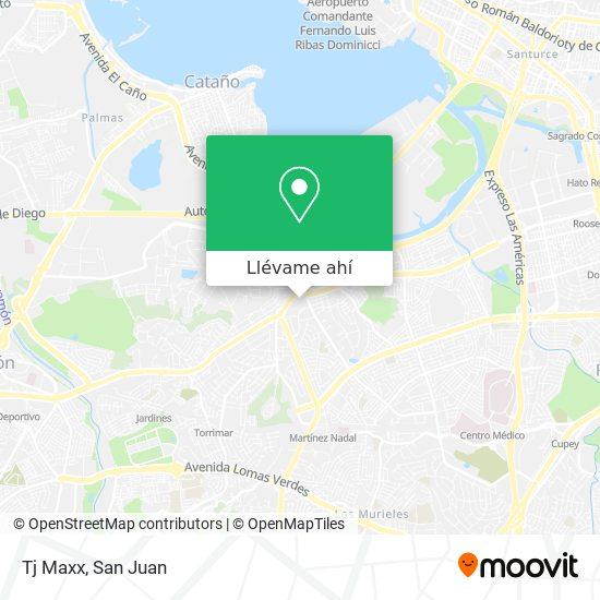 Mapa de Tj Maxx