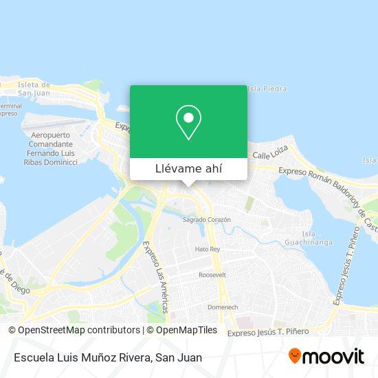 Mapa de Escuela Luis Muñoz Rivera