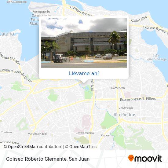 Mapa de Coliseo Roberto Clemente