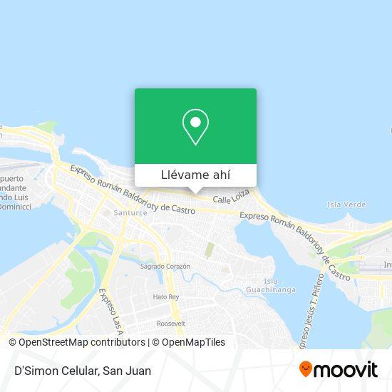 Mapa de D'Simon Celular