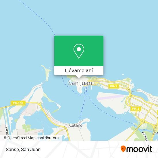 Mapa de Sanse